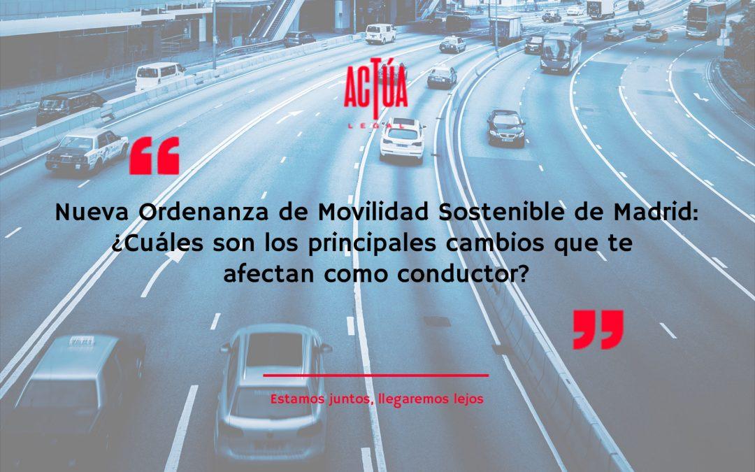 Nueva Ordenanza de Movilidad Sostenible de Madrid: en vigor a partir del 22 de septiembre